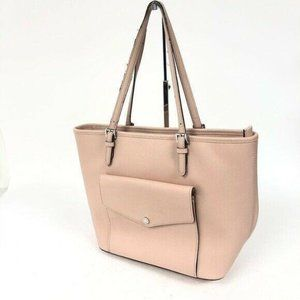 Michael Kors Women's Pink Leather Pocket Tote Bag